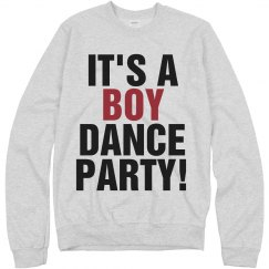 Boy Dance Party Text