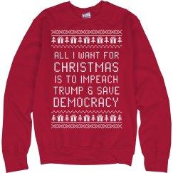Impeach Trump Christmas Sweater