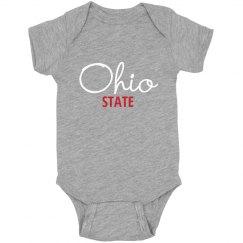 Ohio State infant bodysuit