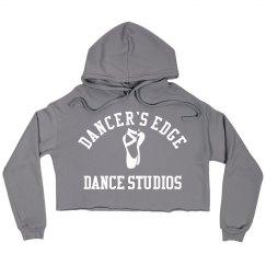 Dancer's edge cropped hoodie