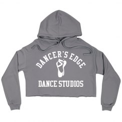 Dancer's edge cropped hoodie