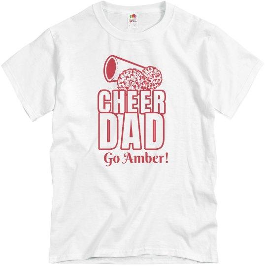 5bf68502 Proud Cheer Dad Unisex Basic Promo T-Shirt