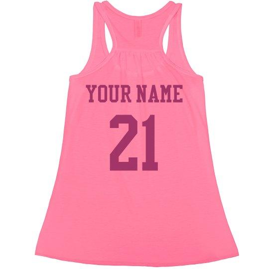 21st Birthday Neon Crop Ladies Flowy Boxy Cropped T Shirt