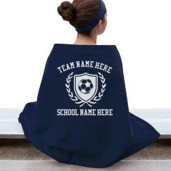 Custom Soccer Team Blanket