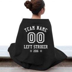 Soccer Player Custom Blanket