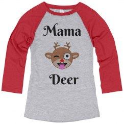 Mama Deer Custom Christmas Pajamas Shirt