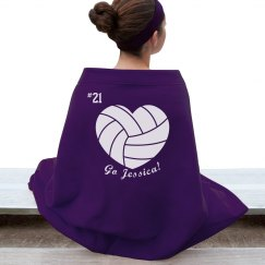 Custom Volleyball Blanket