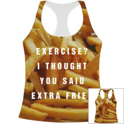 All Over Print Extra Fries Workout