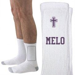 PURPLE MELO SOCKS