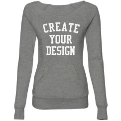 Custom Comfy Wideneck Sweatshirt