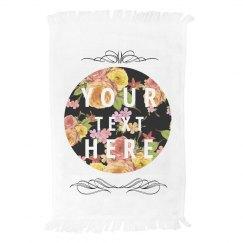 Custom Floral Towel