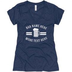 Graphic Beer Mug Bar Name