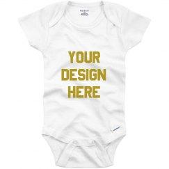 Metallic Infant Custom Onesie