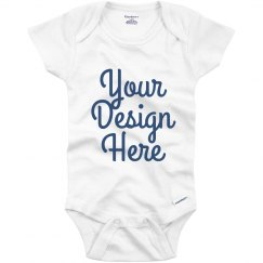 Custom Blue Metallic Text Onesie