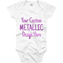 Custom Onesie With Metallic Text