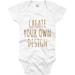 Personalized Metallic Text Onesies