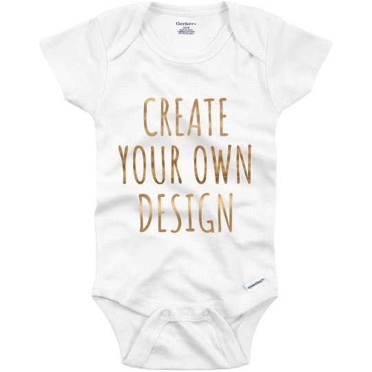 64a36139661d9 Personalized Metallic Text Onesies
