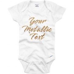 Personalized Onesie Metallic Text