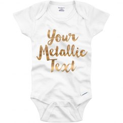 Personalized Onesie Metallic Text