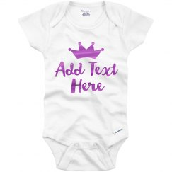 Custom Metallic Princess Onesie