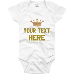 Custom Prince Metallic Onesie