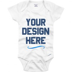 Personalized Metallic Baby Onesies
