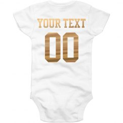 Custom Metallic Name/Number Onesie