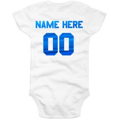 Personalized Metallic Back Onesie