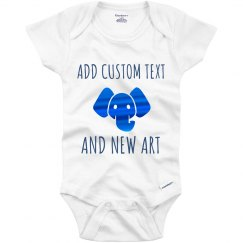 Custom Art & Text Metallic Onesie