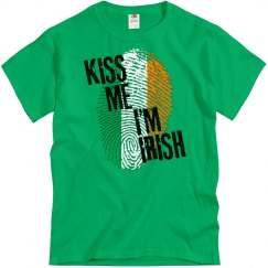 KISS ME IM IRISH fingerprint