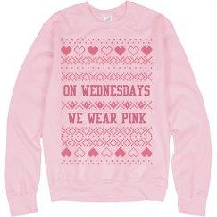 Pink Wednesdays Xmas Ugly Sweater