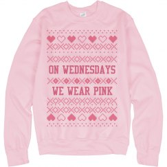 Pink Wednesdays Xmas Ugly Sweater
