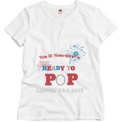 Fourth of July maternity shirt