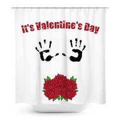 2018 V-Day Shower Curtain - It's Valentine's Day