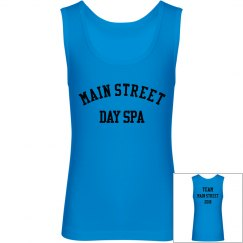 TEAM Main Street Youth Jersey Neon Blue Tank