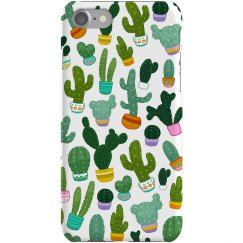Cute Cactus Succulent Print Pattern