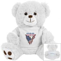 Patriotic American Eagle Bear