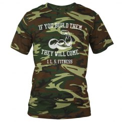 Men's If you build them camouflage t-shirt