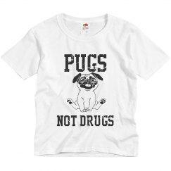 Pugs not drugs tshirt