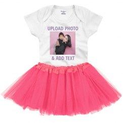 Upload A Photo To Baby Tutu Set