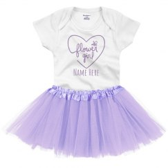 Custom Flower Girl Tutu Set For Baby