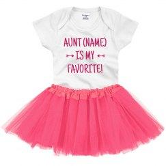 Custom Name Baby's Favorite Aunt