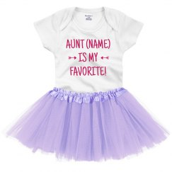 Custom Name Baby's Favorite Aunt