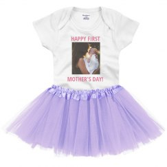 HAPPY FIRST MOTHER'S DAY WITH BABY PHOTO