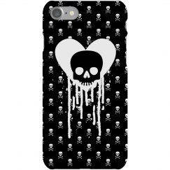 Dripping Heart Skulls