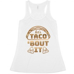 Metallic Taco Bout It Tank