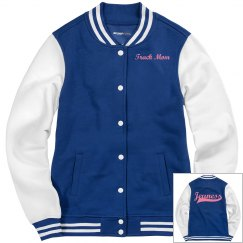 Jeuness Royal Blue Letterman Jacket