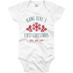 Baby's First Christmas Custom Onesie
