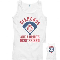 Bride's Clever Wordplay Baseball Bachelorette Tank Top
