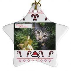 Meow Christmas Ornament